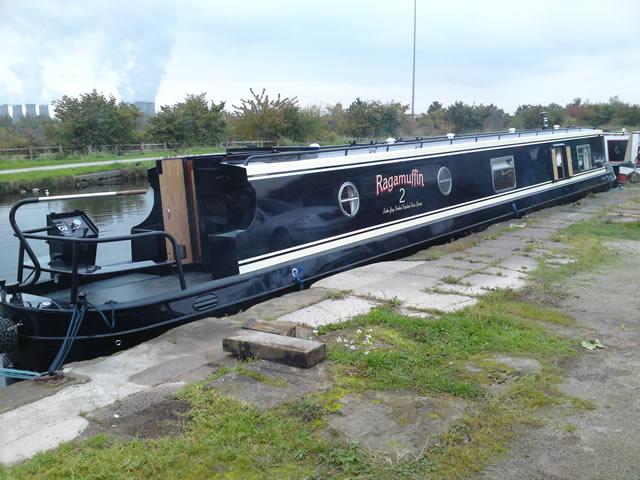 narrow boat fitted